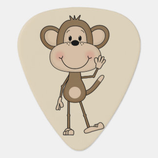 Cute illustrated Monkey Guitar Pick