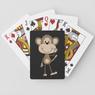 Cute illustrated Monkey Playing Cards