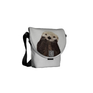 Cute Illustrated Otter Commuter Bags