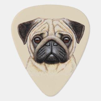 Cute illustrated Pug Dog Plectrum