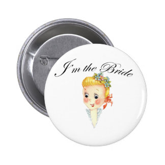 Cute I'm the Bride Hen Party Bridal Shower 6 Cm Round Badge