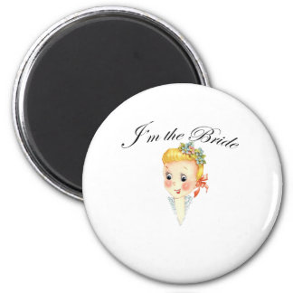 Cute I'm the Bride Hen Party Bridal Shower Refrigerator Magnet