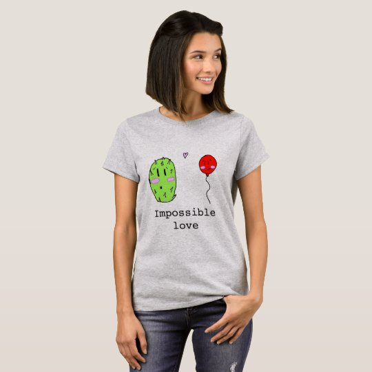 Cute impossible Love Cactus and Balloon T-Shirt