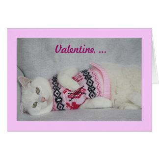 Cute in a Sweater Greeting Card