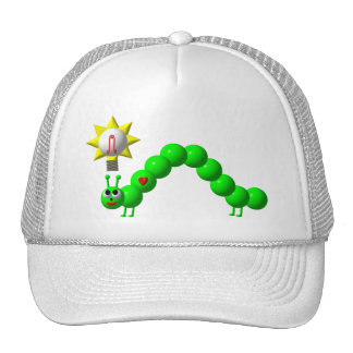 Cute Inchworm with an idea! Cap