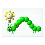 Cute Inchworm with an idea! 9 Cm X 13 Cm Invitation Card