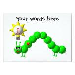 Cute Inchworm with an idea! 13 Cm X 18 Cm Invitation Card