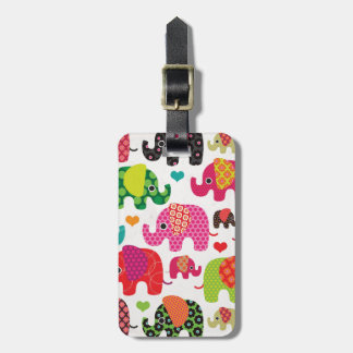 Cute india elephant festival pattern travel tag tags for bags