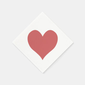 Cute Indian Red Heart Paper Napkins