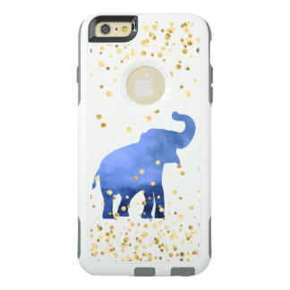 cute indigo blue elephant OtterBox iPhone 6/6s plus case