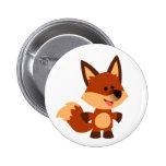 Cute Innocent Cartoon Fox Button Badge