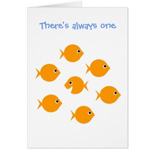 "Cute Inspirational ""Always One"" Cartoon Greeting Card"
