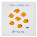 "Cute Inspirational ""Always One"" Cartoon Poster"