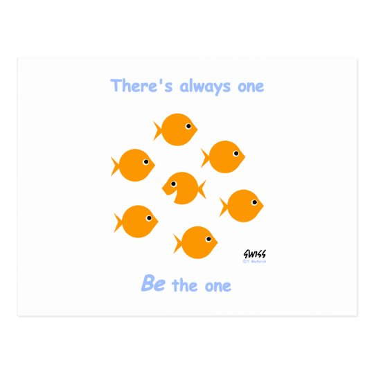"""Cute Inspirational """"There's Always One"""" Cartoon"""