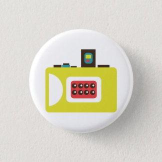 Cute Instant Camera (Yellow) Flair 3 Cm Round Badge