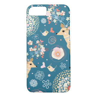 Cute iPhone 7 case, bird, deer iPhone 8/7 Case