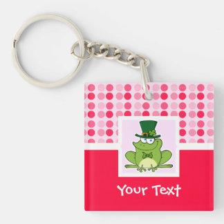 Cute Irish Frog Acrylic Keychain