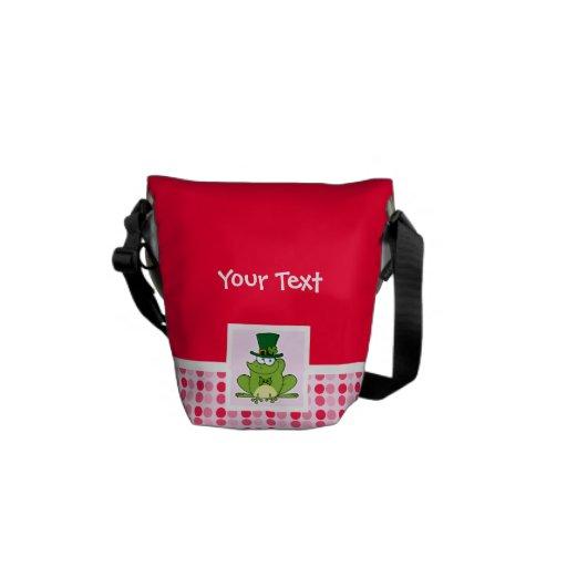 Cute Irish Frog Messenger Bag