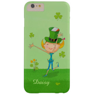 Cute Irish Girl Green Lucky Shamrock Clovers Barely There iPhone 6 Plus Case