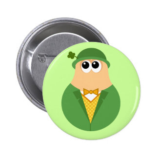 Cute Irish Leprechaun button