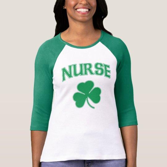 Cute Irish Nurse Shamrock T-Shirt