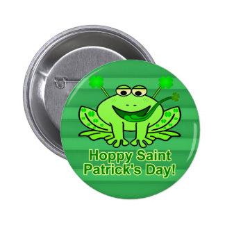 Cute Irish Saint Patrick's Day Frog 6 Cm Round Badge