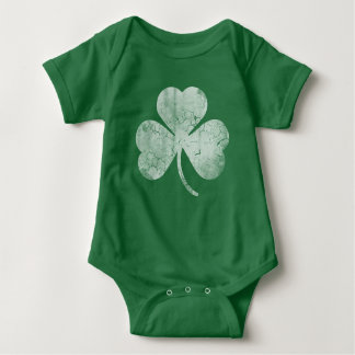 Cute Irish Shamrock St Patrick's Day Baby Bodysuit