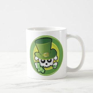 Cute Irish Skull Basic White Mug
