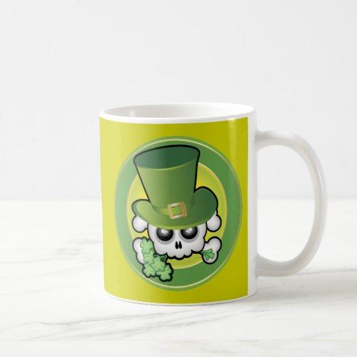 Cute Irish Skull Coffee Mug