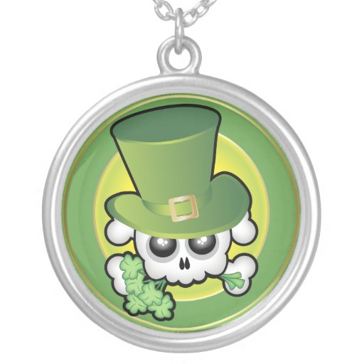 Cute Irish Skull Personalized Necklace