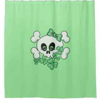 Cute Irish Skull Shower Curtain