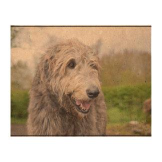 Cute Irish Wolfhound Photo Cork Paper