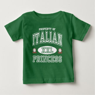 Cute Italian Princess Dark Baby T-Shirt