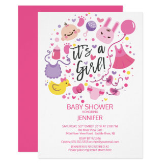Cute It's a Girl!  Boys Baby Shower Invite