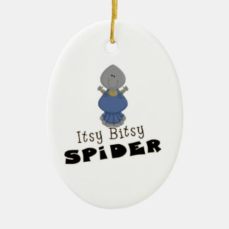 cute itsy bitsy spider ceramic oval decoration
