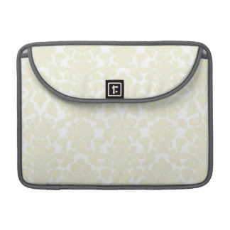 Cute Ivory Damask Pattern Sleeves For MacBooks