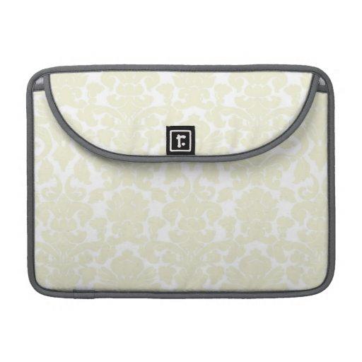 Cute Ivory Damask Pattern MacBook Pro Sleeve