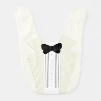 Cute Ivory Tuxedo Baby Bib