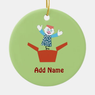 Cute Jack in the Box Christmas Ornament
