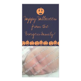 Cute Jack O Lantern Halloween Photo Card