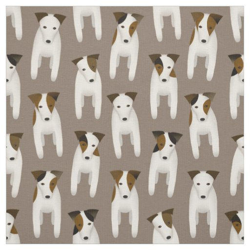 cute Jack Russell Terriers dog pattern Fabric