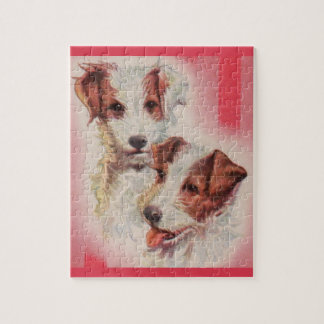 CUTE Jack Russell terriers illustration Jigsaw Puzzle