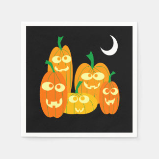 Cute Jackolantern Pumpkins Cartoon Halloween Party Disposable Serviette