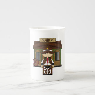 Cute Jailhouse Cowboy China Coffee Cup