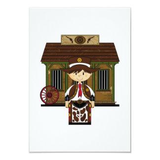Cute Jailhouse Cowboy RSVP Card 9 Cm X 13 Cm Invitation Card