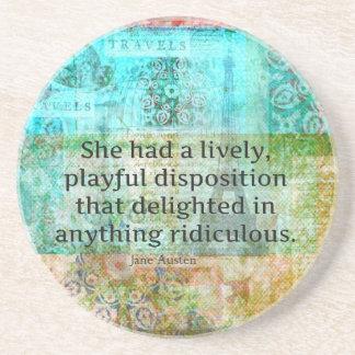 Cute Jane Austen quote from Pride and Prejudice Coaster