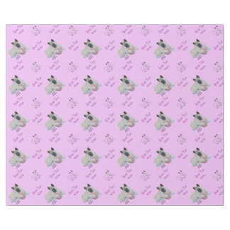 Cute Japanese akita with pink teddy bear art Wrapping Paper