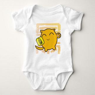 cute Japanese lucky cat - gold Baby Bodysuit