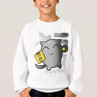 cute Japanese lucky cat - silver Sweatshirt