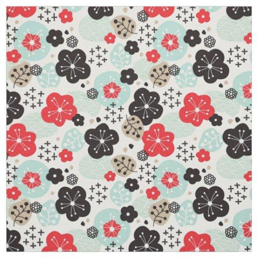 Cute Japanese patterns design Fabric